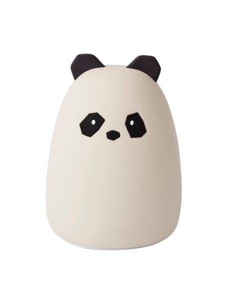 LED lichtobject Winston Panda, 100% siliconen, BPA-vrij, Wit, Ø 11 x H 14 cm