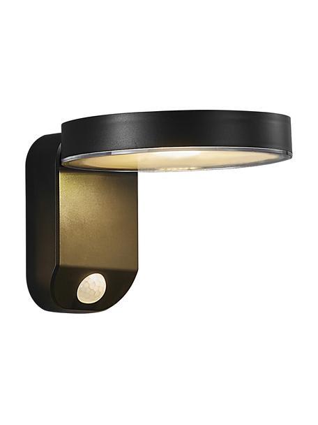 Aplique solar exterior Rica, con senson de movimiento, Pantalla: plástico, Negro, An 15 x Al 12 cm