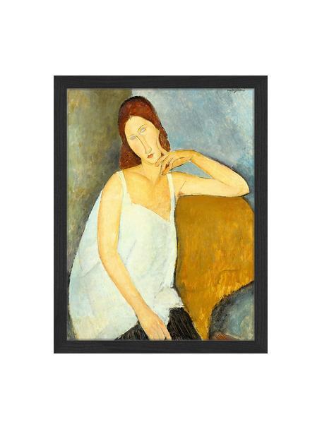Oprawiony druk cyfrowy Jeanne Hebuterne, By Amedeo Modigliani, Wielobarwny, S 33 x W 43 cm