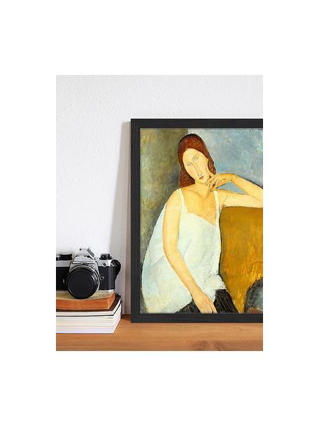 Stampa digitale incorniciata Jeanne Hebuterne, By Amedeo Modigliani, Immagine: stampa digitale su carta,, Cornice: legno verniciato, Multicolore, Larg. 33 x Alt. 43 cm