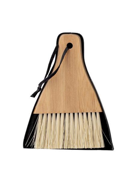 Set de cepillo y recogedor Sylwia, 2pzas., Marrón, negro, An 13 x Al 17 cm