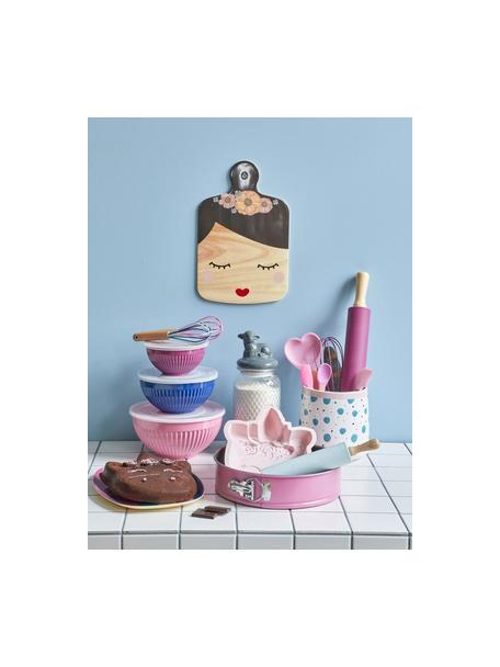 Nudelholz Pin, Griff: Buchenholz, Pink, Buchenholz, L 43 cm