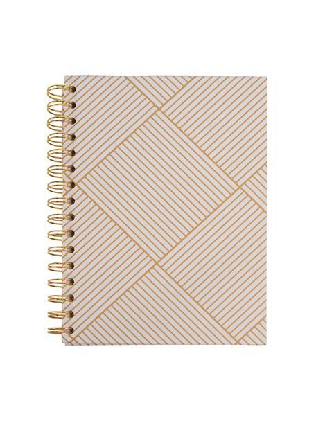 Notatnik Bürli, Odcienie złotego, biały, S 16 x W 21 cm