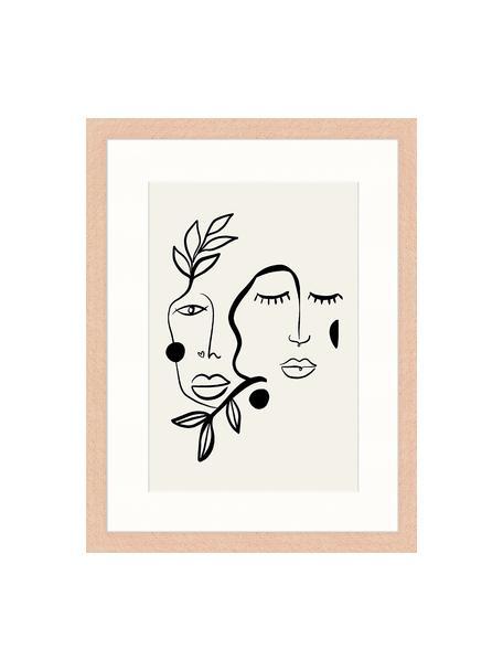 Lámina decorativa Love And Flourish, Gris claro, negro, An 33 x Al 43 cm