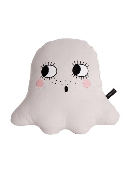 Cojín de algodón ecológico Ghost, con relleno, Exterior: 100% algodón ecológico, c, Blanco, An 42 x L 42 cm