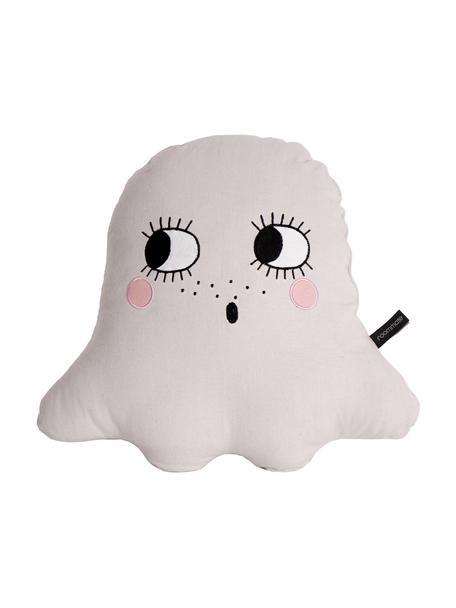Kissen Ghost aus Bio-Baumwolle, mit Inlett, Bezug: 100% Biobaumwolle, OCS-ze, Weiß, 42 x 42 cm