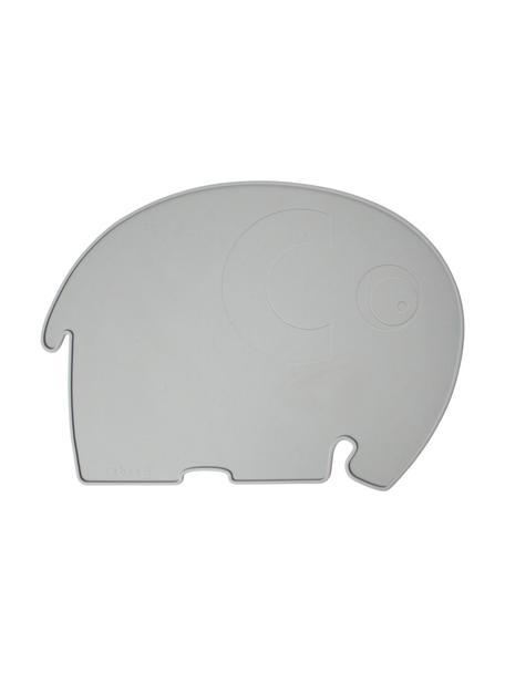 Tovaglietta elefantino in silicone Fanto, Silicone, senza BPA, Grigio, Larg. 43 x Alt. 33 cm
