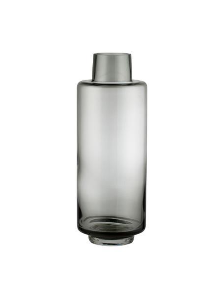 Grote mondgeblazen vaas Hedria, Glas, Fumé, Ø 11 x H 30 cm