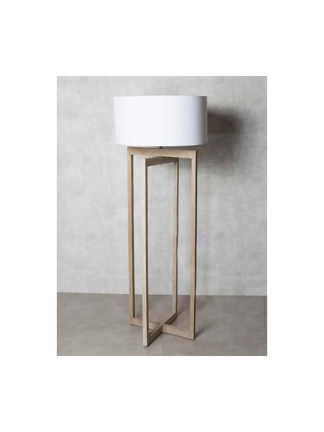 Lámpara de pie Sorel, Pantalla: algodón, Blanco, beige, Ø 60 x Al 165 cm