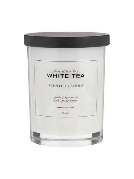 Świeca zapachowa White Tea (puder& biała herbata), Biały, czarny, Ø 8 x W 10 cm