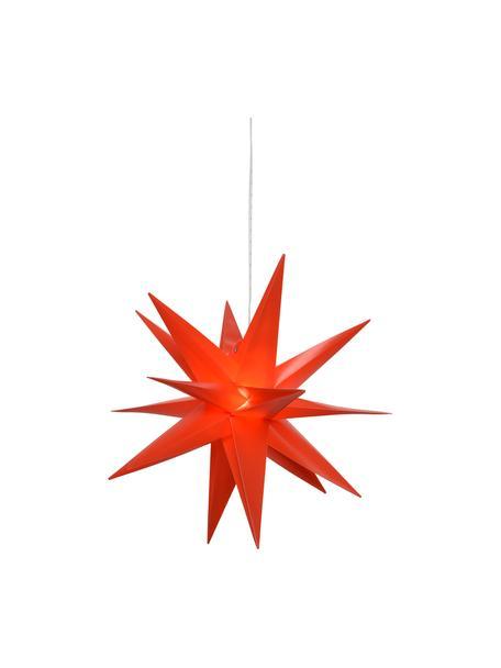 Estrella LED Zing, funciona a pilas, Cable: plástico, Rojo, Ø 30 cm