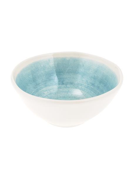 Ręcznie wykonana miseczka Pure, 6 szt., Ceramika, Niebieski, biały, Ø 16 cm