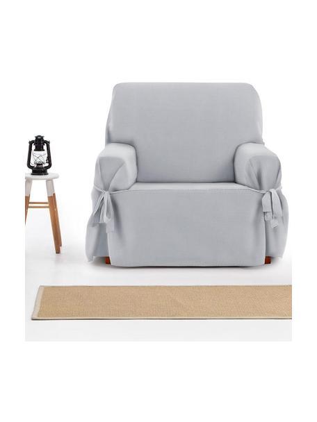 Funda de sillón Levante, 65%algodón, 35%poliéster, Gris, An 110 x Al 110 cm