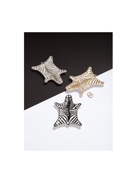 Design decoratieve schaal Zebra van porselein, Porselein, Zwart, wit, B 15 x D 11 cm