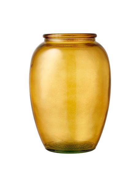 Glas-Vase Kusintha, Recyceltes Glas, Bernsteinfarben, Ø 13 x H 20 cm