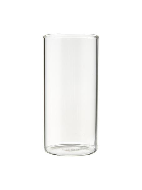 Wassergläser Boro aus Borosilikatglas, 6 Stück , Borosilikatglas, Transparent, Ø 6 x H 12 cm
