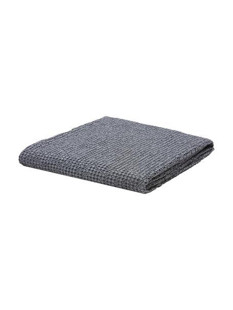 Copriletto in cotone blu scuro Vigo, 100% cotone, Blu scuro, Larg. 220 x Lung. 240 cm (per letti da 160 x 200)