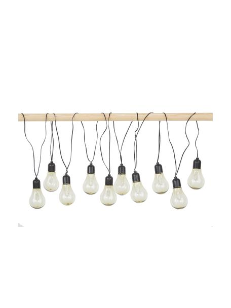 Guirnalda de luces LED para exterior Glow, 505cm, 10 luces, Cable: plástico, Blanco, L 505 cm