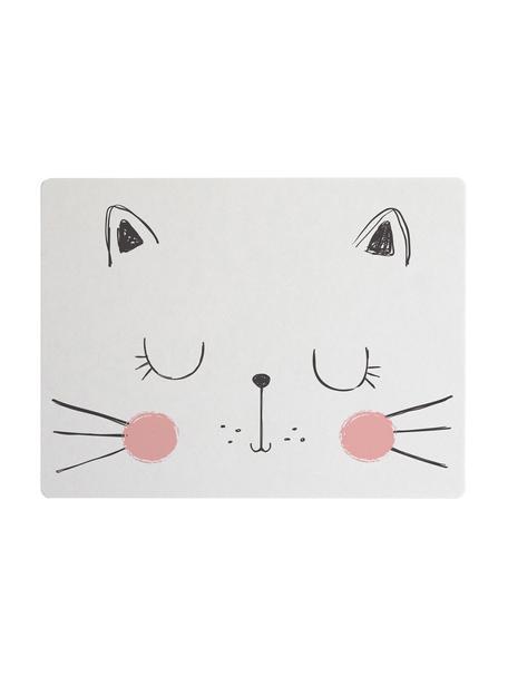 Podkładka Cat, Juta, żywica syntetyczna, Biały, blady różowy, czarny, S 35 x D 55 cm