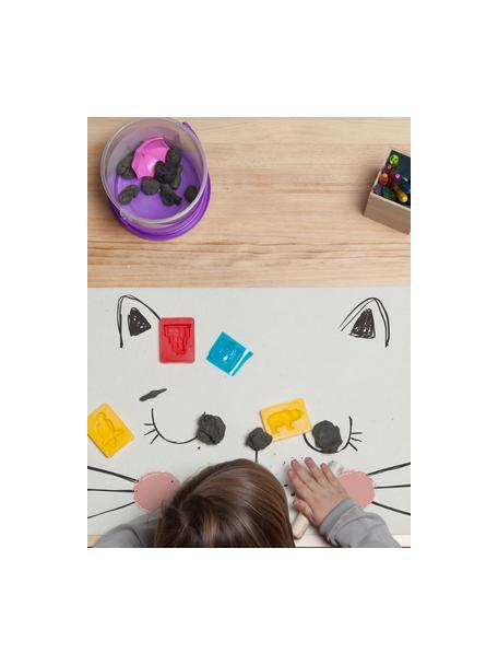 Bureau-onderlegger Cat, Jute- en harsvezels, Wit, roze, zwart, 35 x 55 cm
