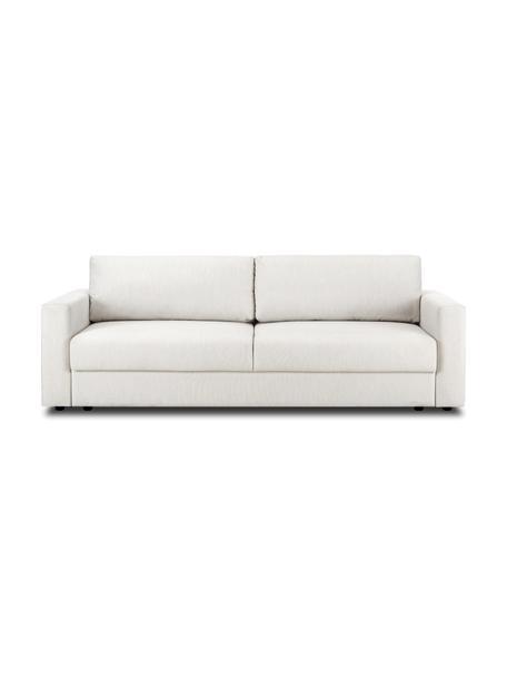 Sofá cama Tasha, Tapizado: 100%poliéster Alta resis, Patas: pino macizo, madera contr, Patas: plástico, Tejido beige, An 235 x F 100 cm