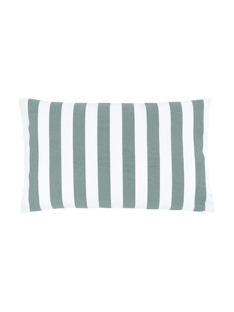 Federa arredo a righe color verde salvia/bianco Timon, 100% cotone, Verde, Larg. 30 x Lung. 50 cm