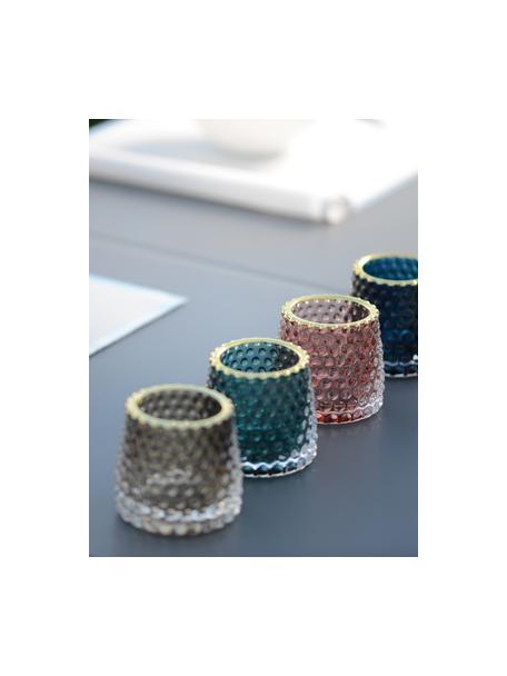 Waxinelichthoudersset Rimmon, 4-delig, Glas, Multicolour, Ø 8 x H 7 cm