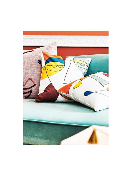 Funda de cojín Adriano, Blanco, multicolor, An 40 x L 40 cm