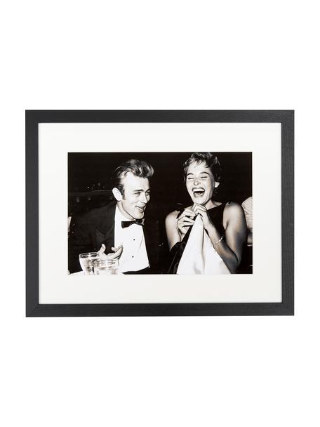Ingelijste fotoprint Pier Abgeli and James Dean, Afbeelding: digitale print op papier, Lijst: gelakt beukenhout, plexig, Afbeelding: sepia. Lijst: zwart, 43 x 33 cm