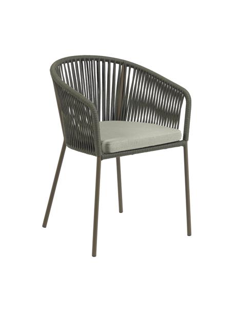 Krzesło ogrodowe Yanet, Stelaż: metal ocynkowany, lakiero, Tapicerka: poliester, Zielony, S 56 x G 51 cm