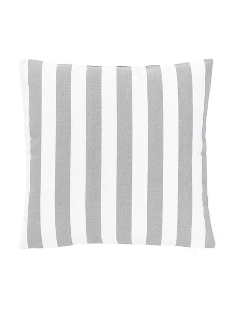 Federa arredo a righe color grigio chiaro/bianco Timon, 100% cotone, Grigio chiaro, bianco, Larg. 40 x Lung. 40 cm