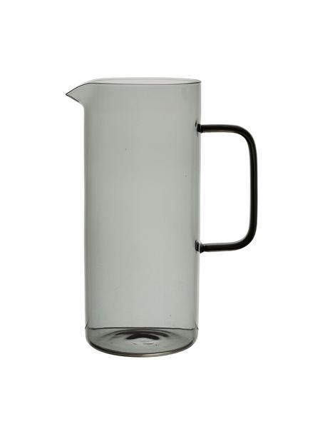 Krug Dilacia aus Glas mit schwarzem Griff, Borosilikatglas, Grau, transparent, 1 L