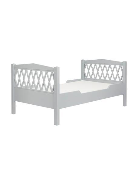 Łóżko dziecięce z drewna Harlequin, Drewno sosnowe, płyta pilśniowa (MDF), lakierowane (bez LZO), Szary, S 100 x D 170 cm