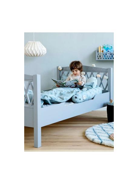 Lettino per bambini in legno grigio Harlequin, Legno verniciato, Grigio, Larg. 100 x Lung. 170 cm