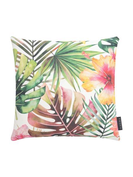 Outdoor kussenhoes Kokamo met tropische print, 100% Dralon® polyacryl, Multicolour, 40 x 40 cm