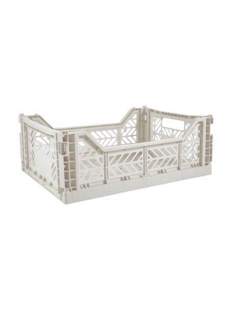 Caja plegable apilable Light, mediana, Plástico reciclado, Gris claro, An 40 x Al 14 cm