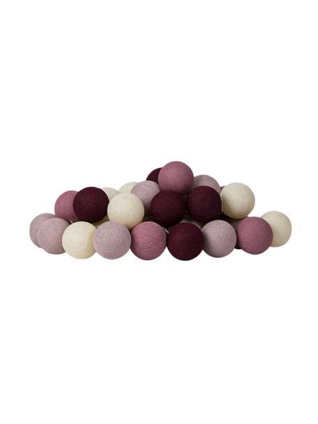 LED lichtslinger Colorain, 378 cm, 20 lampions, Crèmewit, roze, lila tinten, L 378 cm