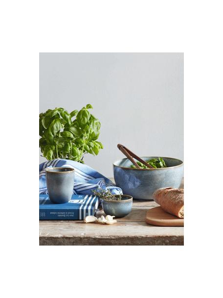 Kubek z kamionki Saisons, 6 szt., Kamionka, Niebieski, Ø 9 x W 10 cm