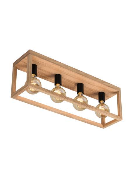 Faretti da soffitto in legno Kago, Marrone, nero, Larg. 68 x Alt. 25 cm