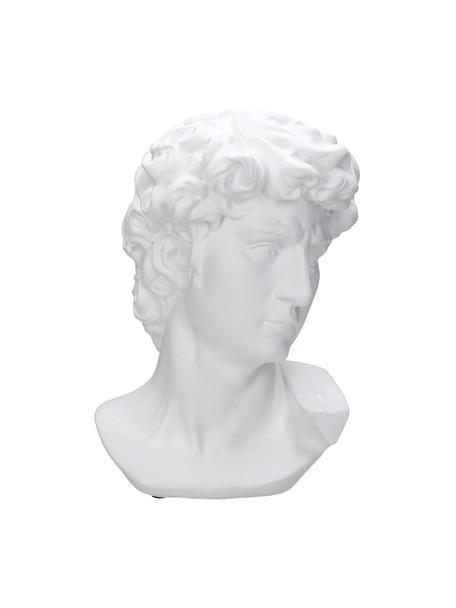 Figura decorativa David, Poliresina, Blanco, An 21 x Al 29 cm
