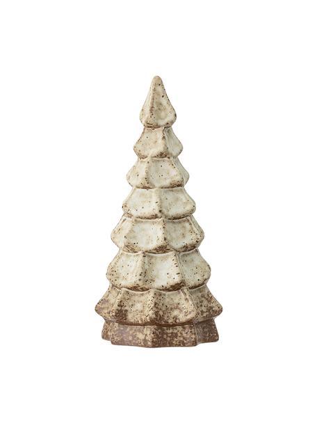 Handgefertigter Deko-Baum Tree H 22 cm, Steingut, Braun, Beige, Ø 10 x H 22 cm