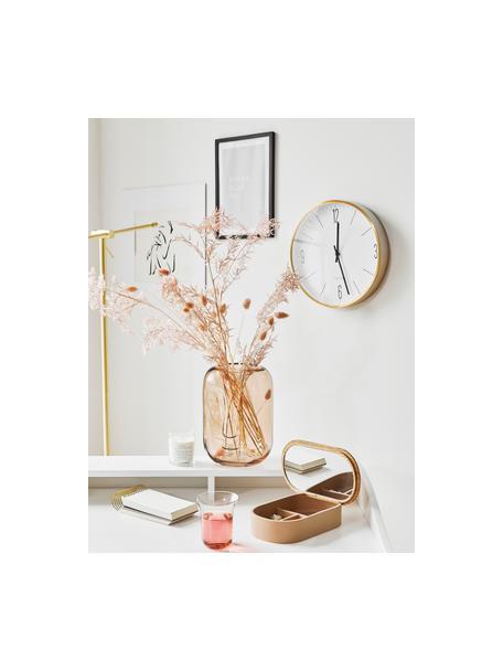 Wanduhr Couture, Aluminium, Gold,Weiss, Ø 30 cm