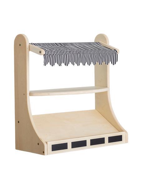 Stoisko sklepowe Minishopper, Stelaż: drewno warstwowe, metal, Drewno naturalne, czarny, biały, S 40 x W 41 cm