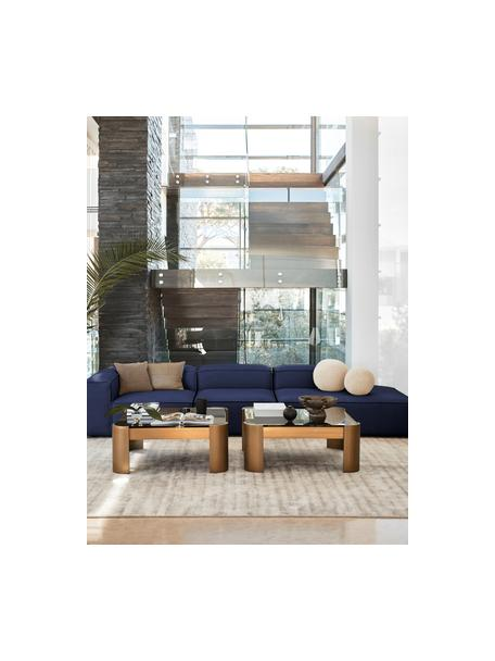 Diván modular grande Lennon, Tapizado: 100%poliéster Alta resis, Estructura: madera de pino maciza, ma, Patas: plástico Las patas están , Tejido azul, An 357 x Al 119 cm
