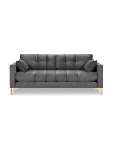 Sofa z aksamitu Mamaia (2-osobowa), Tapicerka: 100% aksamit poliestrowy , Nogi: metal powlekany, Jasny szary, S 152 x G 92 cm