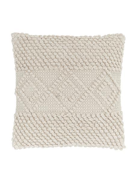 Funda de cojín texturizada Paulina, 100%algodón, Beige, An 45 x L 45 cm