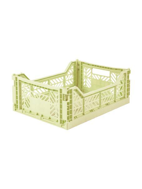 Kosz do przechowywania Melon, składany, średni, Tworzywo sztuczne z recyklingu, Zielony melonowy, S 40 x W 14 cm