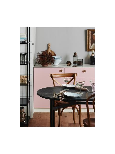 Ovaler Esstisch Taupo mit Marmor-Tischplatte, Tischplatte: Marmor, Mitteldichte Holz, Beine: Metall, pulverbeschichtet, Grau, B 175 x T 90 cm