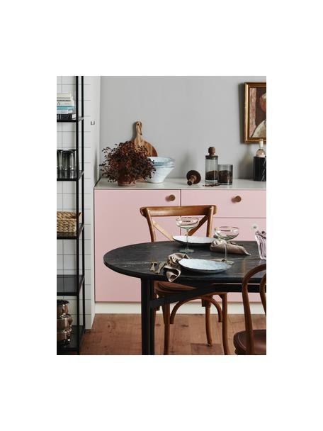 Owalny stół do jadalni z marmurowym blatem Taupo, Blat: marmur, płyta pilśniowa ś, Nogi: metal malowany proszkowo, Szary, S 175 x G 90 cm