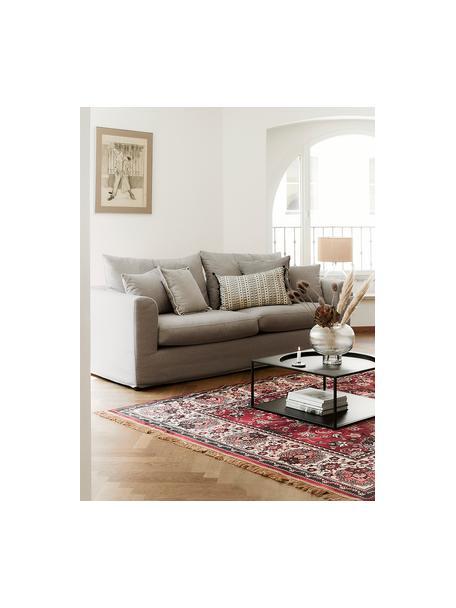 Sofa Zach (2-Sitzer) in Taupe, Bezug: Polypropylen Der hochwert, Webstoff Taupe, B 191 x T 90 cm